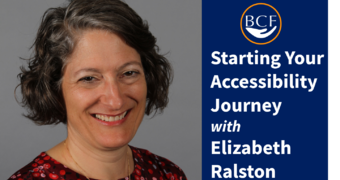 Photo for Join us! Starting Your Accessibility Journey with Elizabeth Ralston